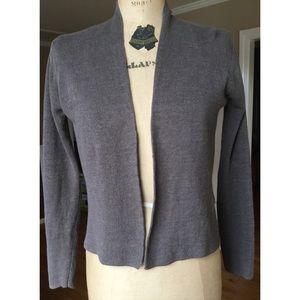Eileen Fisher Linen Open Cardigan Sweater PP 2/4
